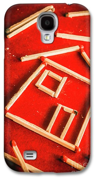 Matchstick Houses Galaxy S4 Case by Jorgo Photography - Wall Art Gallery