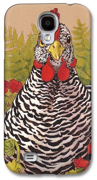 Chicken Galaxy S4 Case - Matilda In The Geraniums by Tracie Thompson