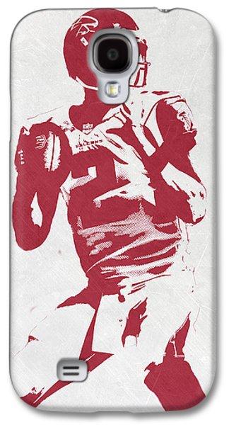Matt Ryan Atlanta Falcons Pixel Art 2 Galaxy S4 Case by Joe Hamilton
