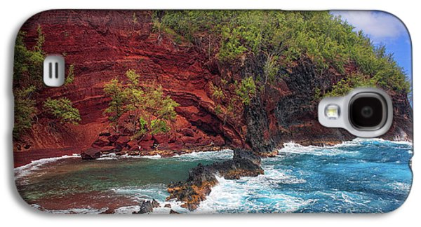 Maui Red Sand Beach Galaxy S4 Case by Inge Johnsson