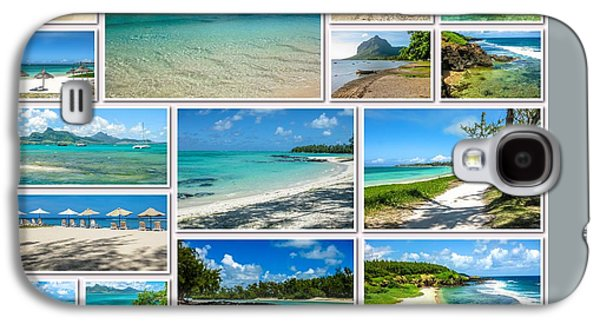 Mauritius Tropical Beaches Collage Galaxy S4 Case by Benny Marty