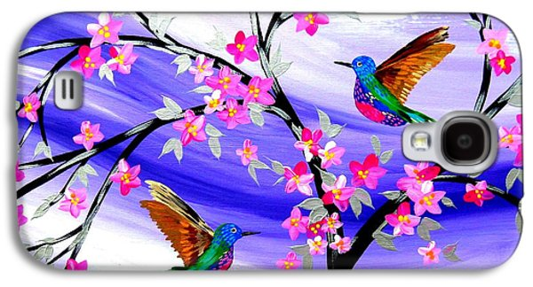Mauve Fantasy With Sakura Galaxy S4 Case by Cathy Jacobs
