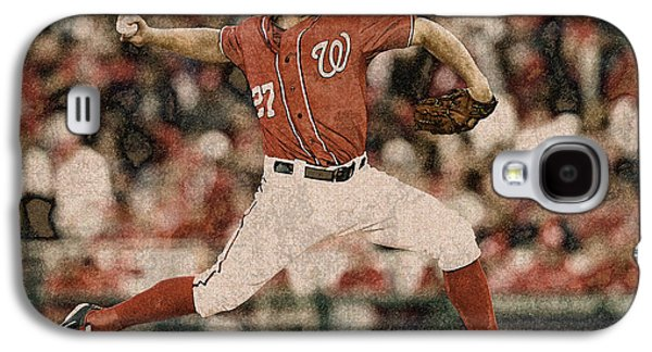 Max Scherzer Washington Nationals Painting Galaxy S4 Case