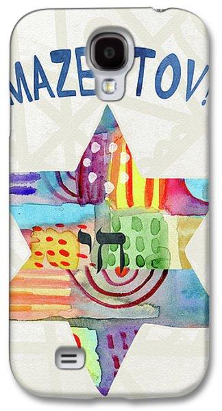 Bat Galaxy S4 Case - Mazel Tov Colorful Star- Art By Linda Woods by Linda Woods