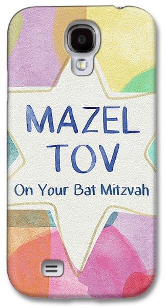 Bat Galaxy S4 Case - Mazel Tov On Your Bat Mitzvah- Art By Linda Woods by Linda Woods