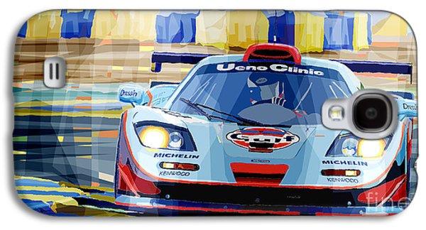 Car Galaxy S4 Case - Mclaren Bmw F1 Gtr Gulf Team Davidoff Le Mans 1997 by Yuriy Shevchuk