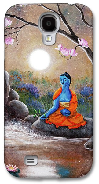 Medicine Buddha By A Waterfall Galaxy S4 Case by Laura Iverson