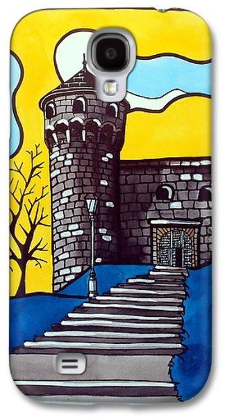 Galaxy S4 Case featuring the painting Medieval Bastion -  Mace Tower Of Buda Castle Hungary By Dora Hathazi Mendes by Dora Hathazi Mendes