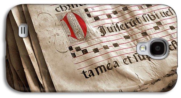 Medieval Choir Book Galaxy S4 Case by Carlos Caetano