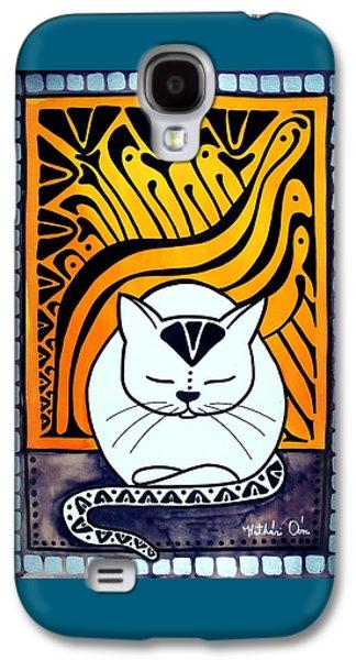 Meditation - Cat Art By Dora Hathazi Mendes Galaxy S4 Case