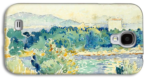 Mediterranean Landscape With A White House Galaxy S4 Case by Henri-Edmond Cross