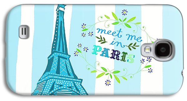 Meet Me In Paris Galaxy S4 Case by Priscilla Wolfe