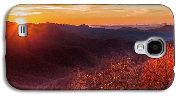 Mountain Sunset Galaxy S4 Case - Melody Of Autumn by Karen Wiles