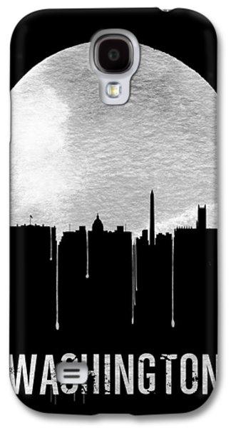 Memphis Skyline Black Galaxy S4 Case by Naxart Studio