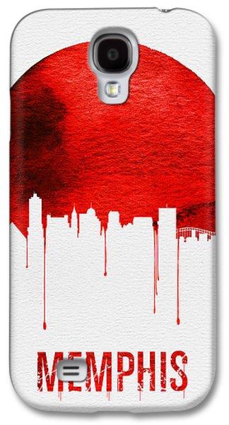Memphis Skyline Red Galaxy S4 Case by Naxart Studio