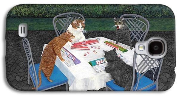 Meowjongg - Cats Playing Mahjongg Galaxy S4 Case