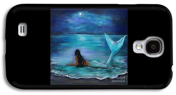 Mermaid Moon And Stars Galaxy S4 Case