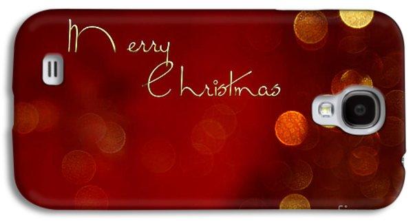 Merry Christmas Card - Bokeh Galaxy S4 Case