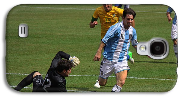 Messi Breaking Ankles Galaxy S4 Case by Lee Dos Santos