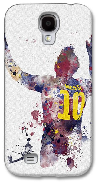 Sports Galaxy S4 Case - Messi by Rebecca Jenkins