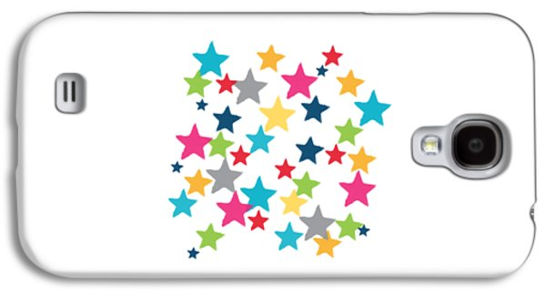 Messy Stars- Shirt Galaxy S4 Case by Linda Woods