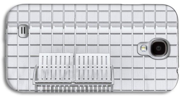 Minimalist Galaxy S4 Case - Metal Bench Against Concrete Squares by Scott Norris