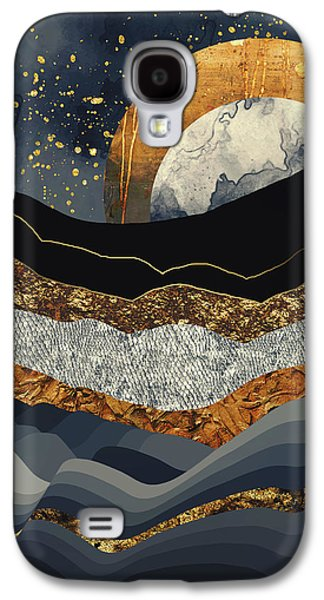 Landscapes Galaxy S4 Case - Metallic Mountains by Katherine Smit