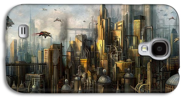 Science Fiction Mixed Media Galaxy S4 Cases - Metropolis Galaxy S4 Case by Philip Straub