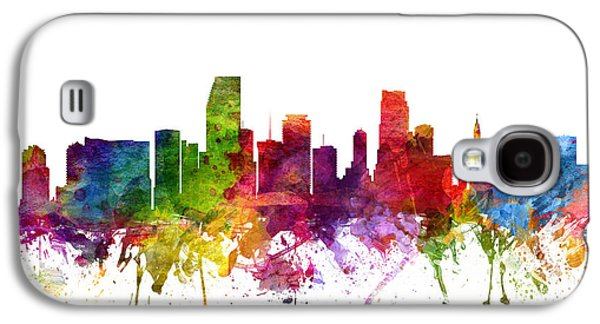 Miami Cityscape 06 Galaxy S4 Case by Aged Pixel