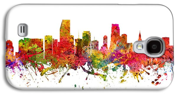 Miami Cityscape 08 Galaxy S4 Case by Aged Pixel