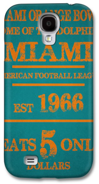 Miami Dolphins Sign Galaxy S4 Case by Joe Hamilton