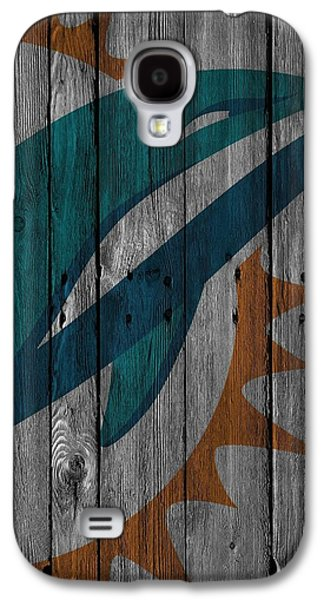 Miami Dolphins Wood Fence Galaxy S4 Case by Joe Hamilton