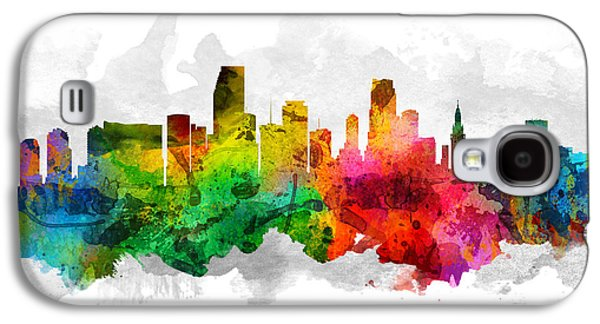Miami Florida Cityscape 12 Galaxy S4 Case by Aged Pixel