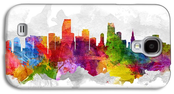 Miami Florida Cityscape 13 Galaxy S4 Case by Aged Pixel