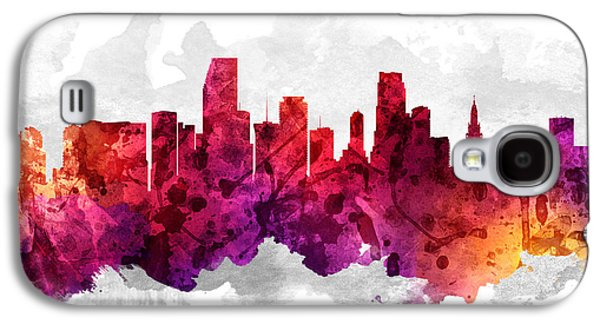 Miami Florida Cityscape 14 Galaxy S4 Case by Aged Pixel