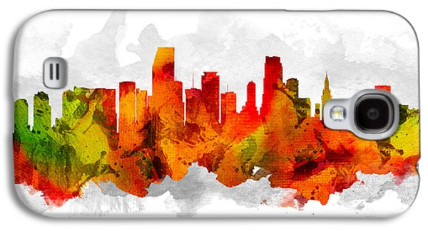 Miami Florida Cityscape 15 Galaxy S4 Case by Aged Pixel