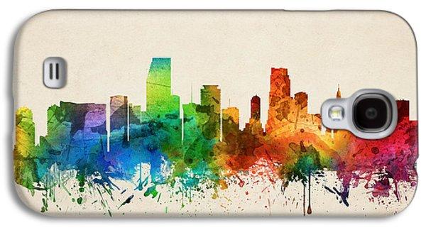 Miami Florida Skyline 05 Galaxy S4 Case by Aged Pixel