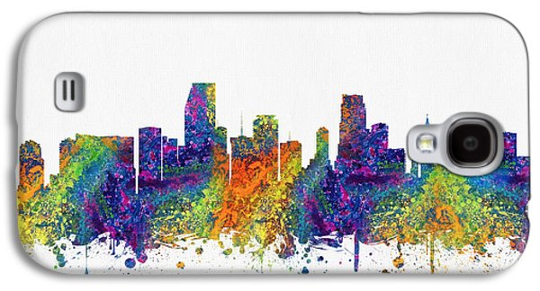Miami Florida Skyline Color03 Galaxy S4 Case by Aged Pixel