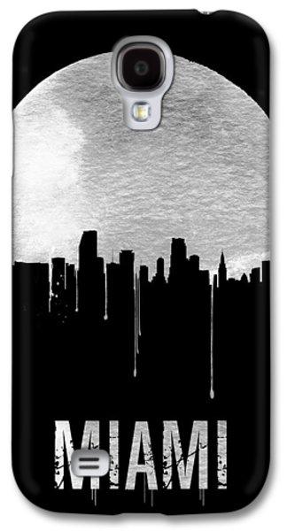 Miami Skyline Black Galaxy S4 Case by Naxart Studio