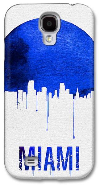 Miami Skyline Blue Galaxy S4 Case by Naxart Studio