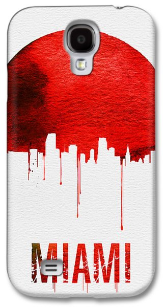 Miami Skyline Red Galaxy S4 Case by Naxart Studio