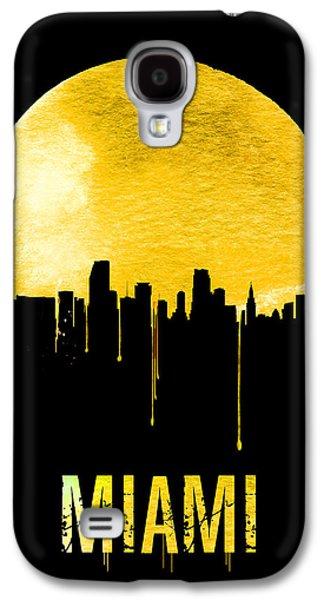 Miami Skyline Yellow Galaxy S4 Case by Naxart Studio