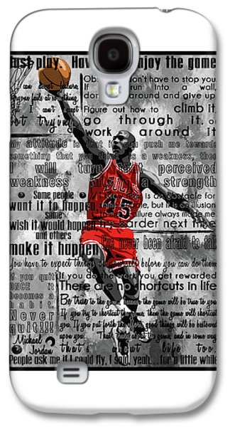 Michael Air Jordan Motivational Inspirational Independent Quotes 2 Galaxy S4 Case by Diana Van