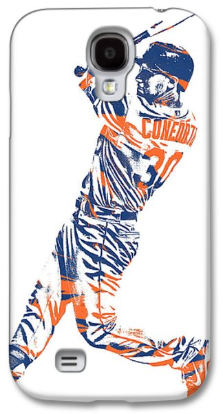 New York Mets Galaxy S4 Case - Michael Conforto New York Mets Pixel Art 1 by Joe Hamilton