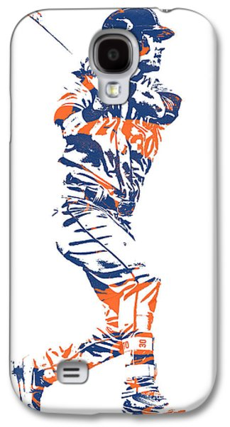 New York Mets Galaxy S4 Case - Michael Conforto New York Mets Pixel Art 2 by Joe Hamilton