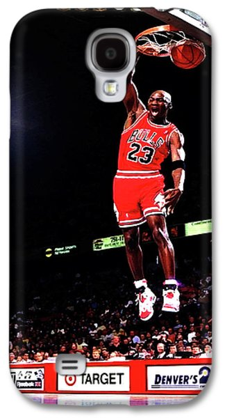 Michael Jordan 23f Galaxy S4 Case by Brian Reaves