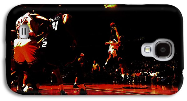 Michael Jordan 3 Seconds Left Galaxy S4 Case by Brian Reaves