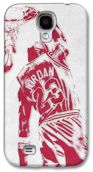 Michael Jordan Chicago Bulls Pixel Art 1 Galaxy S4 Case by Joe Hamilton