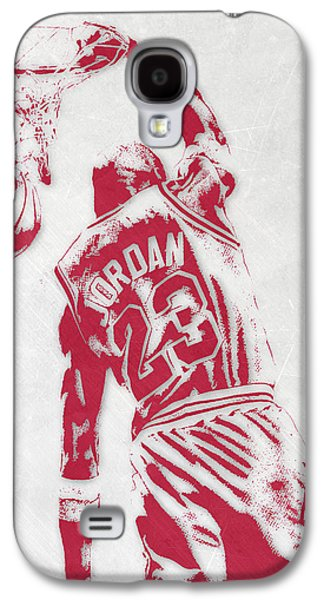 Michael Jordan Chicago Bulls Pixel Art 1 Galaxy S4 Case