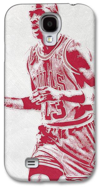 Michael Jordan Chicago Bulls Pixel Art 2 Galaxy S4 Case by Joe Hamilton